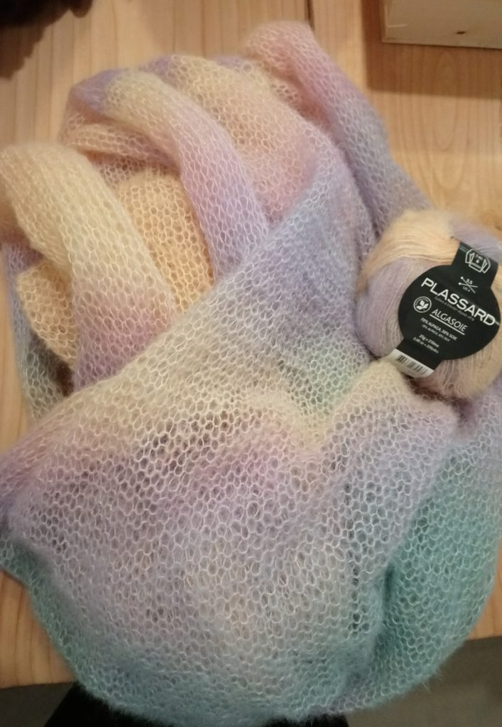 mohair alpaga laine douce tricot pelote