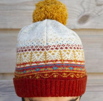 bonnet jacquard france laine pure