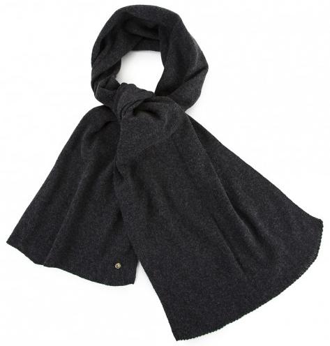 echarpe laine dou gris fabrication francaise
