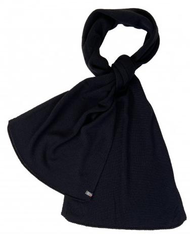 echarpe laine dou noir fabrication francaise