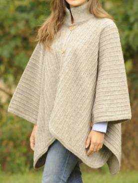 poncho laine chaud fabrication franc naturel
