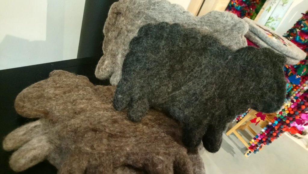 dessous plat laine feutre deco