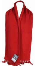echarpe laine dou rouge fabrication francaise