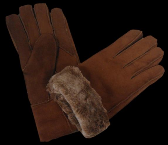 gant peau mouton chaud laine