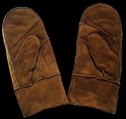 gant moufle peau mouton chaud laine