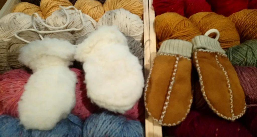 moufle bebe chaud laine mouton