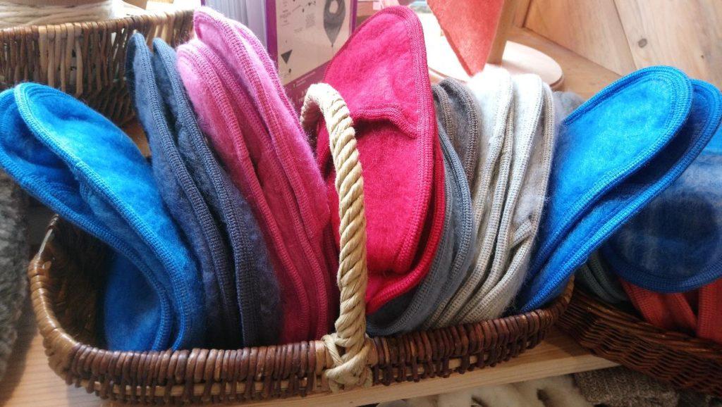 chausson laine mouton chaud naturel