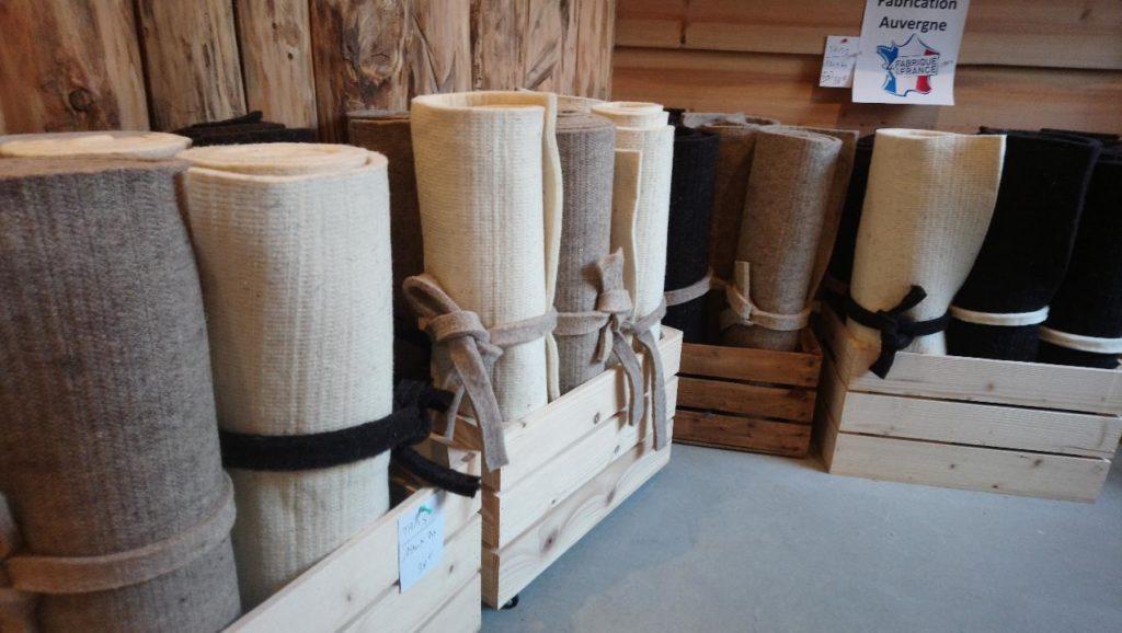 tapis yoga laine feutre naturel fabrication franc