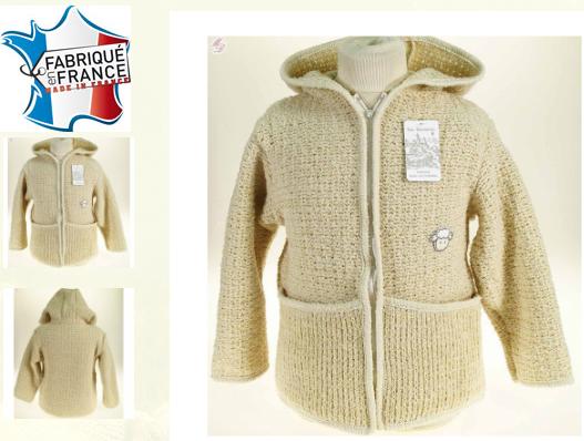 veste manteau laine enfant chaud fabrication france