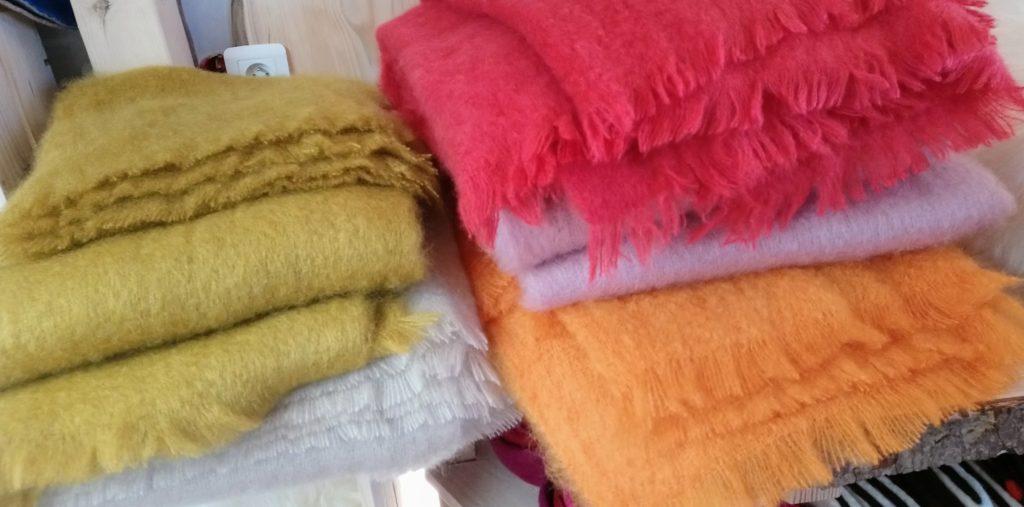 plaid mohair doux laine franc