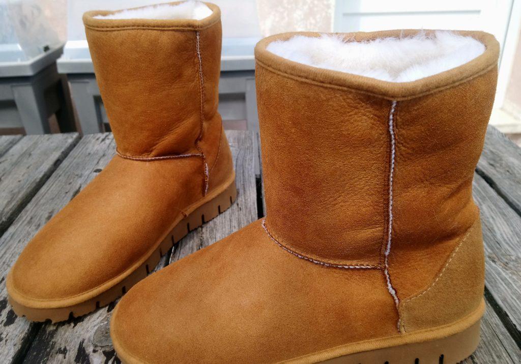 chaussure laine mouton chaud naturel
